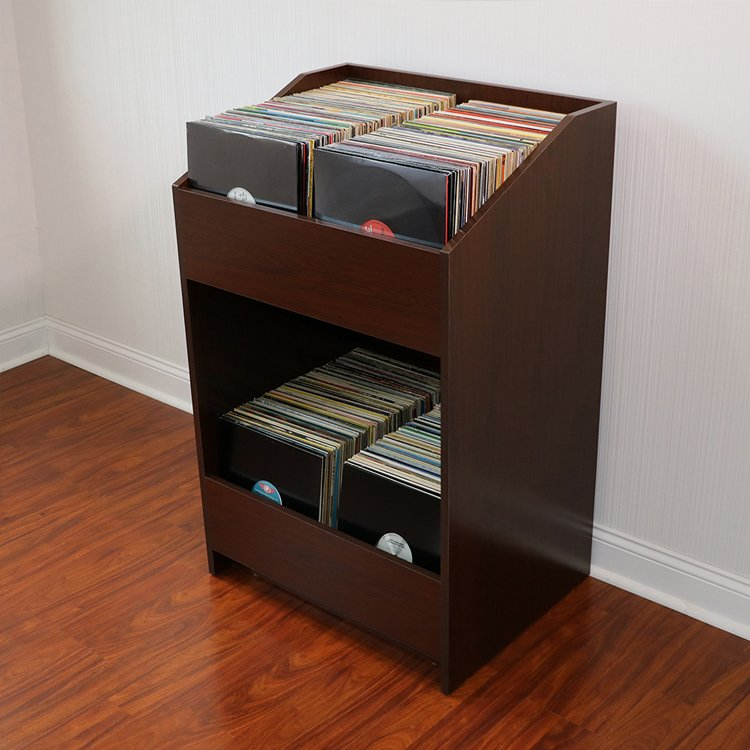 LPBIN LP Storage Cabinet Java Cherry
