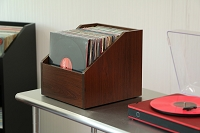 Bin-e LP Storage / Cordovan Cherry