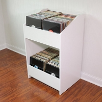 LPBIN LP Storage Cabinet / Natural White
