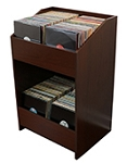 LPBIN LP Storage Cabinet / Java Cherry